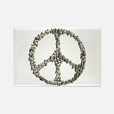 Skulls Peace Sign Rectangle Magnet