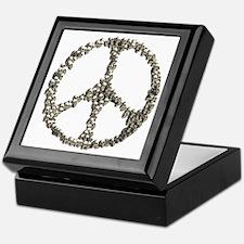 Skulls Peace Sign Keepsake Box
