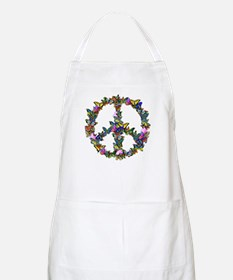 Butterflies Peace Sign Apron