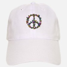 Butterflies Peace Sign Baseball Baseball Cap