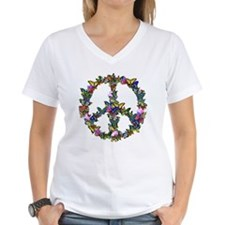 Butterflies Peace Sign Shirt