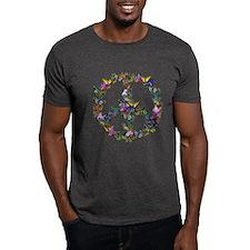 Butterflies Peace Sign T-Shirt