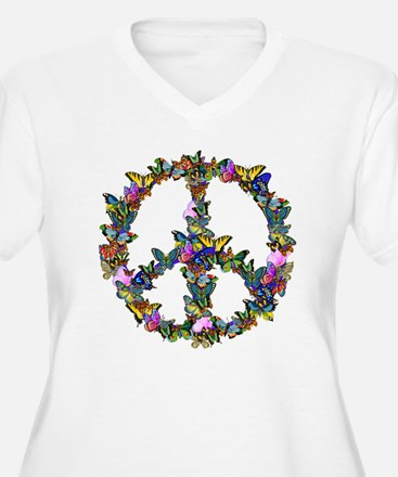 Butterflies Peace Sign T-Shirt