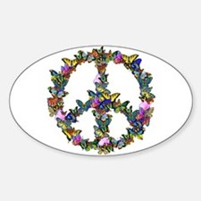 Butterflies Peace Sign Decal