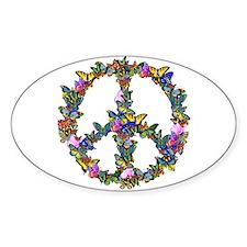Butterflies Peace Sign Stickers