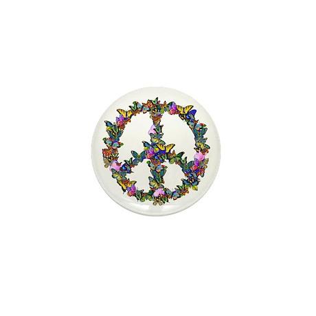 Butterflies Peace Sign Mini Button (100 pack)