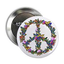 """Butterflies Peace Sign 2.25"""" Button"""