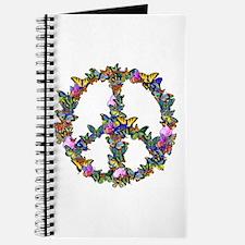 Butterflies Peace Sign Journal