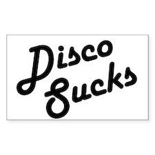 Disco Sucks Rectangle Decal