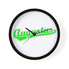 Retro Augustus (Green) Wall Clock