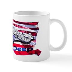 Flag, Dolphin, Pride Runs Deep Mug