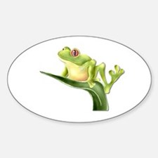 Tree Frog #3 Oval Decal