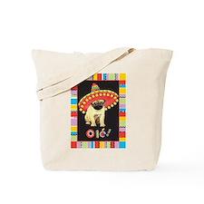 Fiesta Pug Tote Bag