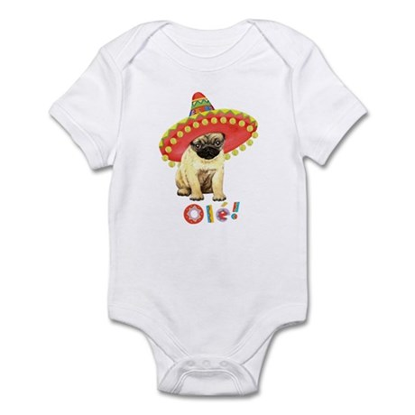 Fiesta Pug Infant Bodysuit