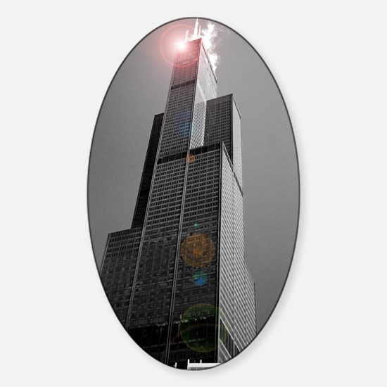 Sears Tower 2 Oval Decal