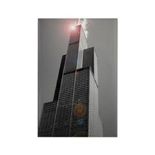 Sears Tower 2 Rectangle Magnet