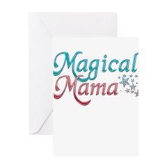 Magical Mama Pink and Blue Greeting Card