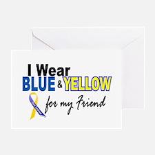 I Wear Blue & Yellow....2 (Friend) Greeting Card