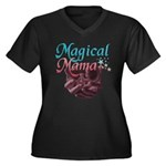 Magical Mama, baby womb Women's Plus Size V-Neck D