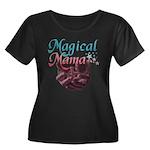 Magical Mama, baby womb Women's Plus Size Scoop Ne