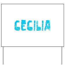 Cecilia Faded (Blue) Yard Sign