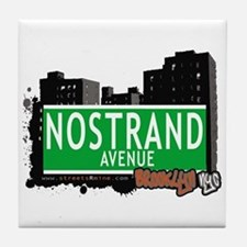 NOSTRAND AVENUE, BROOKLYN, NYC Tile Coaster