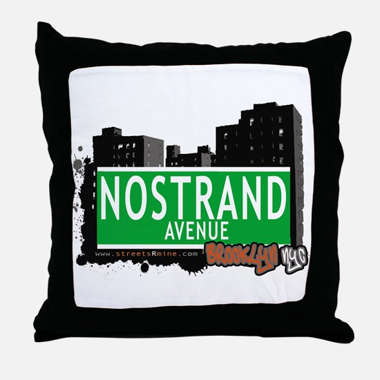 NOSTRAND AVENUE, BROOKLYN, NYC Throw Pillow