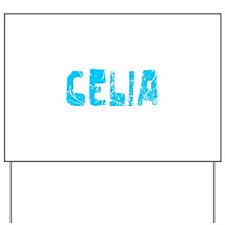 Celia Faded (Blue) Yard Sign