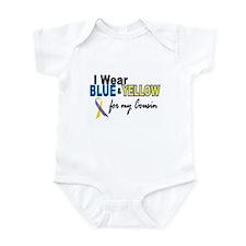I Wear Blue & Yellow....2 (Cousin) Infant Bodysuit