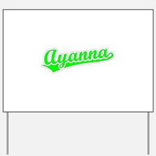 Retro Ayanna (Green) Yard Sign