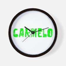 Carmelo Faded (Green) Wall Clock