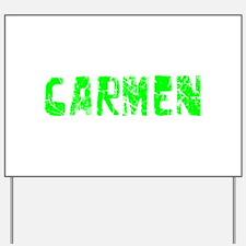 Carmen Faded (Green) Yard Sign