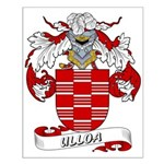 Ulloa Family Crest Small Poster