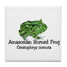 Amazonian Horned Frog Tile Coaster