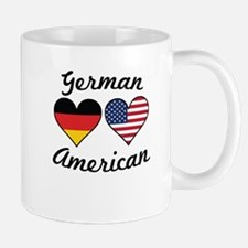 German American Flag Hearts Mugs