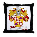 Uria Family Crest Throw Pillow