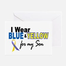 I Wear Blue & Yellow....2 (Son) Greeting Card