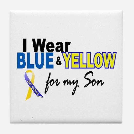 I Wear Blue & Yellow....2 (Son) Tile Coaster