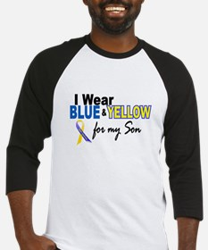 I Wear Blue & Yellow....2 (Son) Baseball Jersey