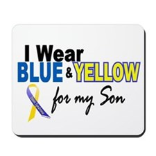 I Wear Blue & Yellow....2 (Son) Mousepad