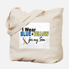 I Wear Blue & Yellow....2 (Son) Tote Bag