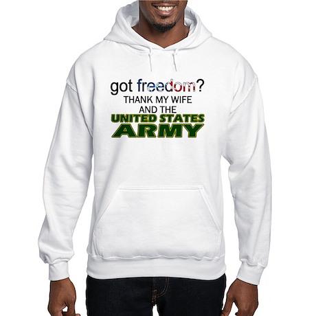 Got Freedom? Army (Wife) Hooded Sweatshirt