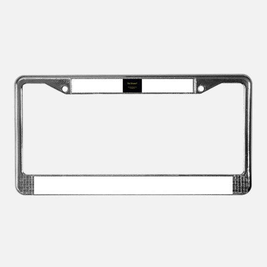 Funny Ghost hunters License Plate Frame