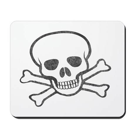 Weathered Jolly Roger Mousepad