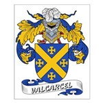 Valcarcel Family Crest Small Poster