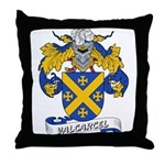 Valcarcel Family Crest Throw Pillow