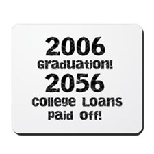 College Loans Mousepad