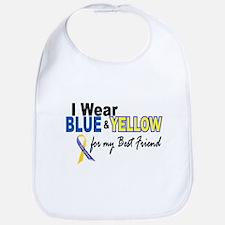I Wear Blue & Yellow....2 (Best Friend) Bib