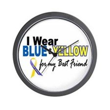 I Wear Blue & Yellow....2 (Best Friend) Wall Clock