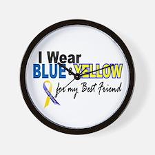 I Wear Blue & Yellow....2 (Best Friend) Wall Clock
